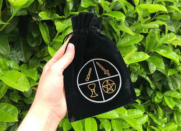 Four Elements Velvet Tarot Bag
