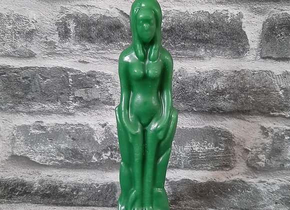 Green Beeswax Female Figure Candle