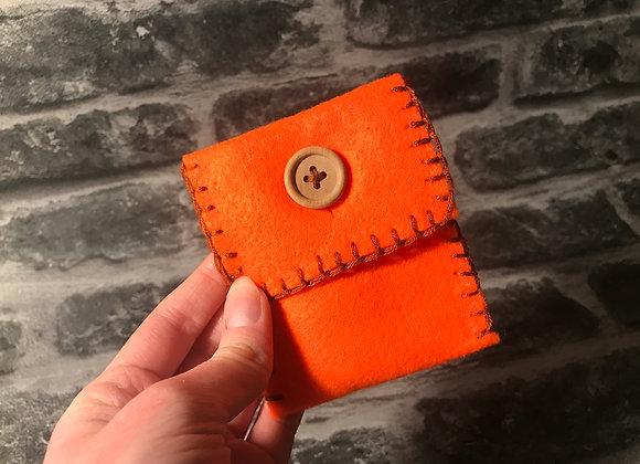 Orange Spell Bag - Handsewn
