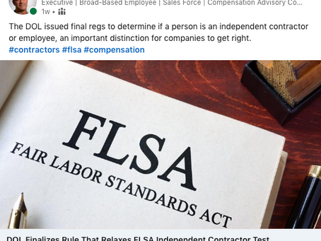New DOL Rule Brings Clarity to Differences Between Independent Contractors and Employees