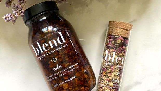 blend - organic loose leaf tea - Glass Tube