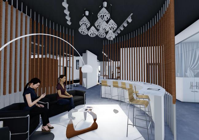 Hair Salon & Dining 3D Modeling
