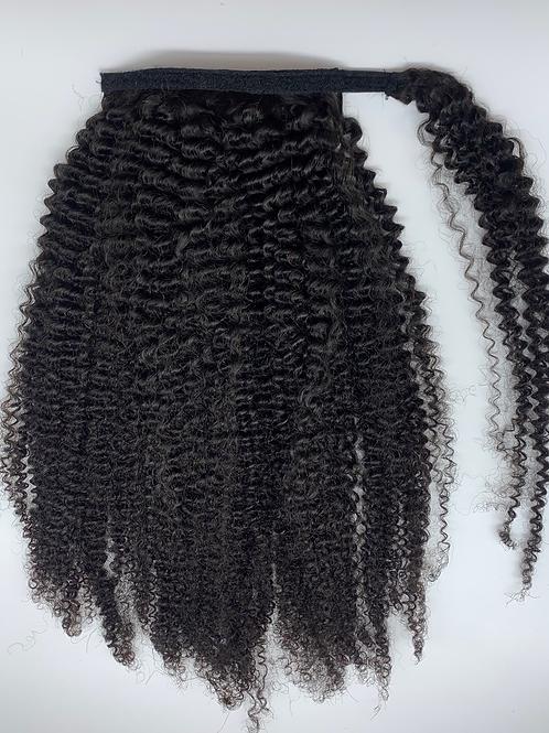 Wrap around Kinky Curly ponytail