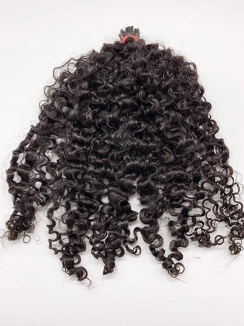 I-tip kinky curly indian hair