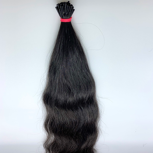 I-tip wavy indian hair