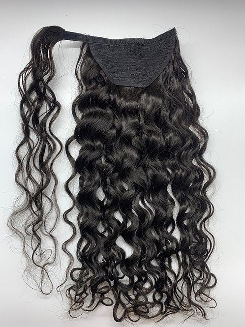 Wrap around Wavy ponytail