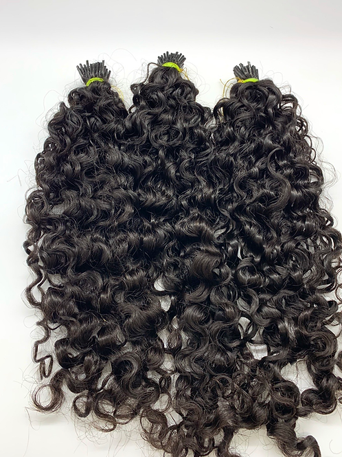 I-tip exotic curly indian hair