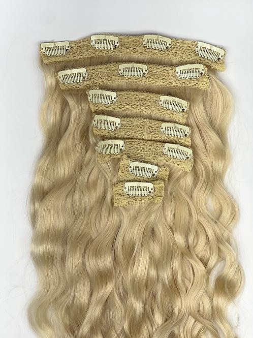 613/Blonde 7 Piece wavy clip ins