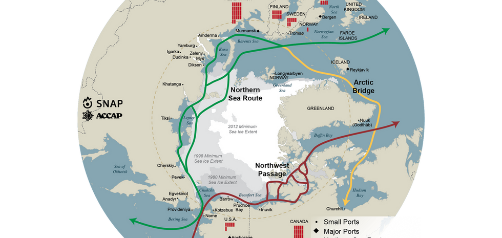 Arctic Shipping Routes Map
