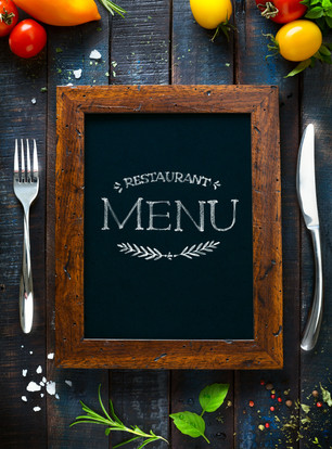 Restaurant cafe menu, template design. F