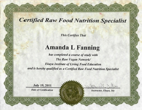 Raw Food Nutritionist