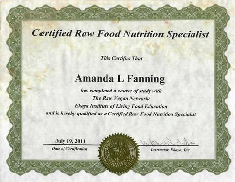 Raw Food Nutritionist