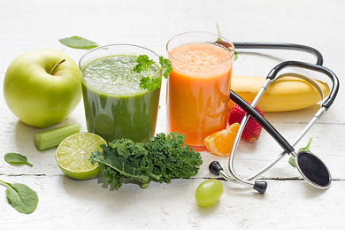 Fruits, vegetables, juice, smoothie and