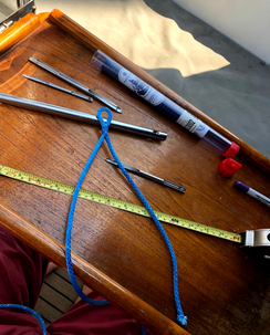 We can splice new halyards, lifelines, sheets, etc to upgrade your boat's running rigging