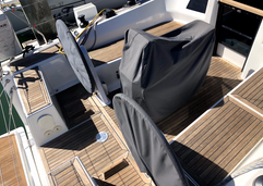 BEFORE Hanse 385 ready for teak cleaning & sailing