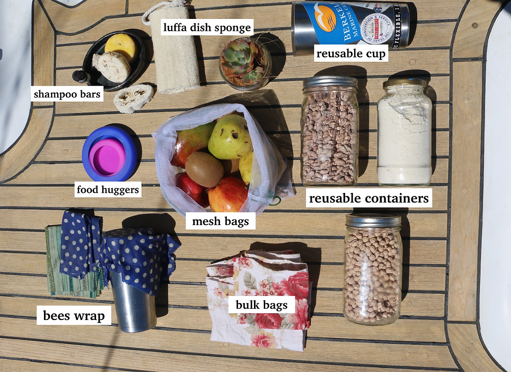 Zero waste and plastic free alternatives for Liveaboard living.