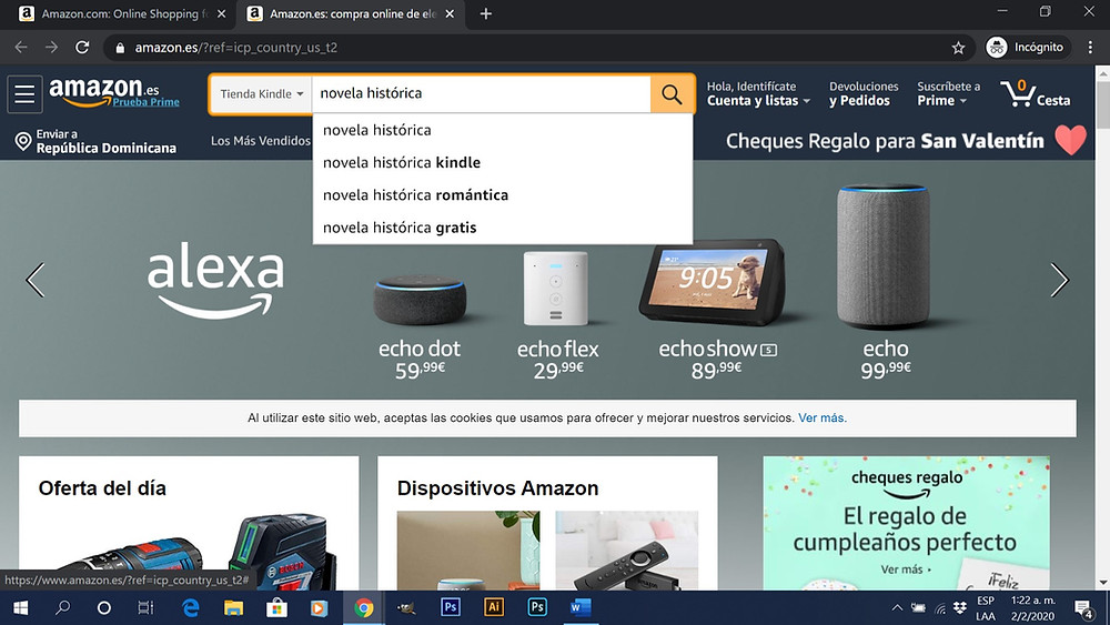 Palabras claves Amazon