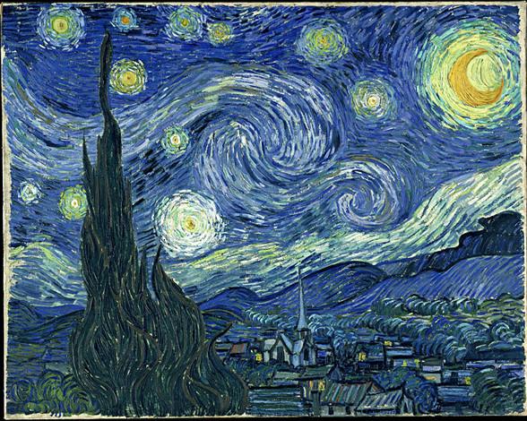 Vincent Van Gogh, obra Noche Estrellada, lienzo