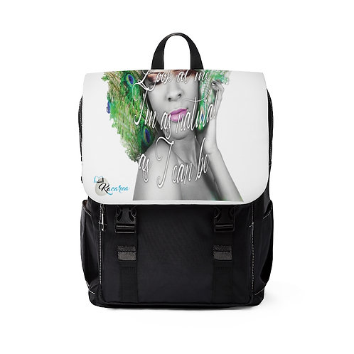 """Look at me, as natural as I can be."" Unisex Casual Shoulder Backpack"