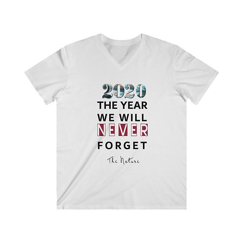 The year we will never forget 2020 Men's Fitted V-Neck Short Sleeve Tee