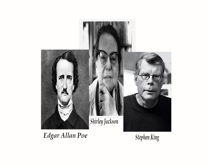 Edgar Allan Poe,Shirley Jackson,Stephen King