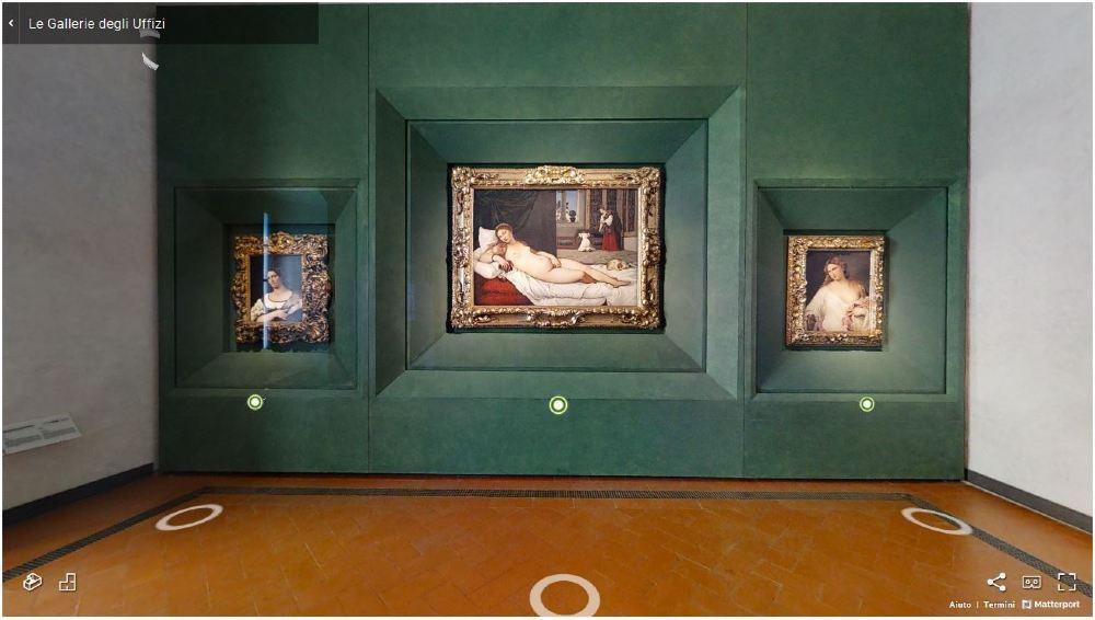 Ipervisioni, i tour virtuali della Galleria degli Uffizi di Firenze