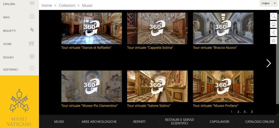 Le mostre e i tour virtuali dei Musei Vaticani a Roma