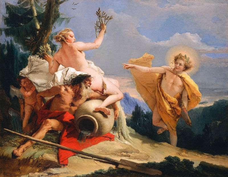Il mito di Apollo e Dafne: i rami della ninfa diventano una corona d'alloro
