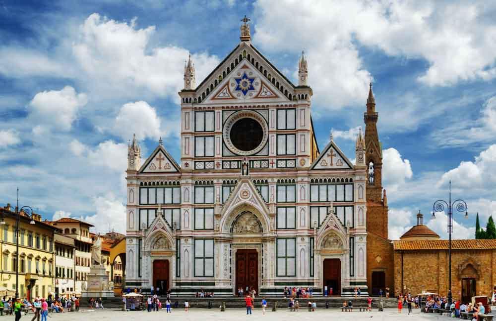 Basilica di Santa Croce a Firenze, dove è nata la Sindrome di Stendhal