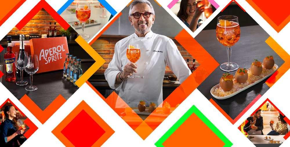 Aperol Spritz e lo chef Barbieri insieme per Together We Can Cook
