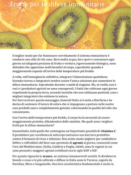 Novembre - Frutta per le difese immunitarie