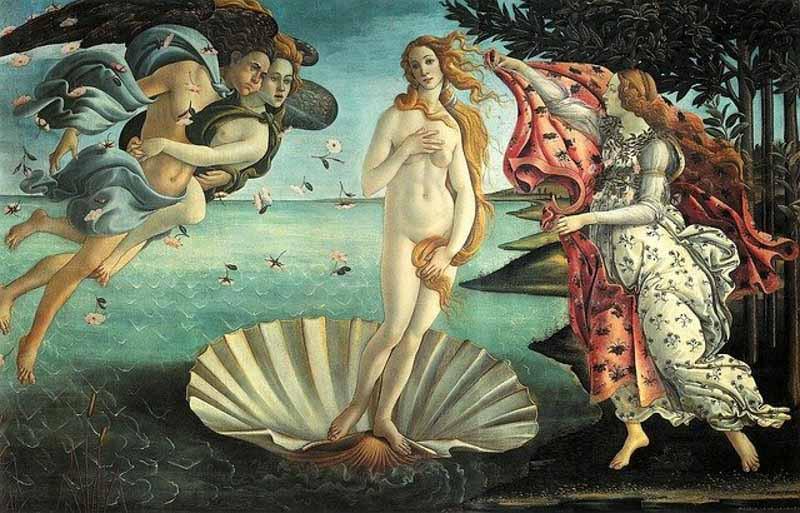 La Venere di Botticelli agli Uffizi, alla cui vista alcuni turisti hanno manifestato la Sindrome di Stendhal