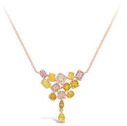 """RAINBOW"" FANCY COLOURED DIAMOND NECKLACE"