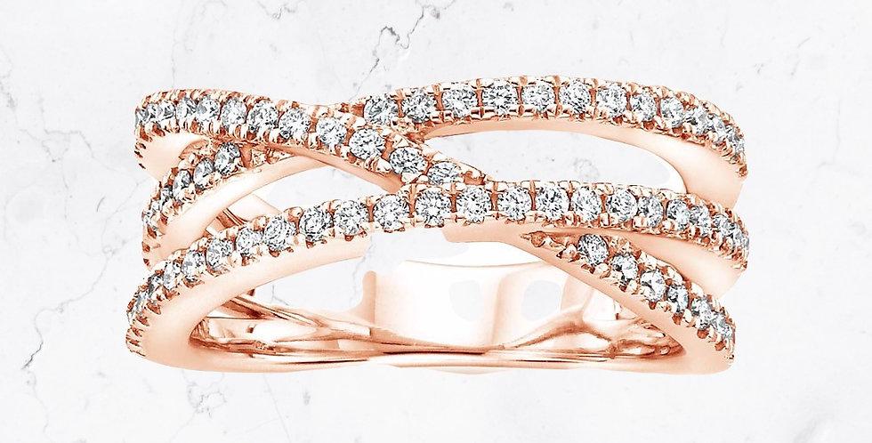 Triple-Band Diamond Charlotte Ring