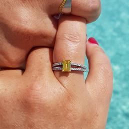 Zimmi engagement & wedding ring