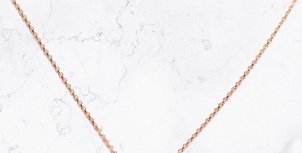 Om Symbol Diamond & Gold Necklace