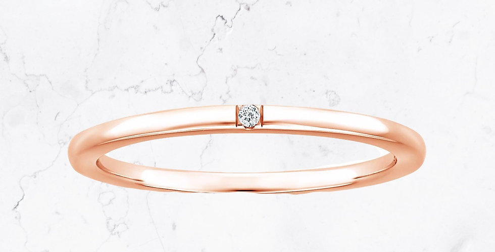 Single Diamond Grace Ring