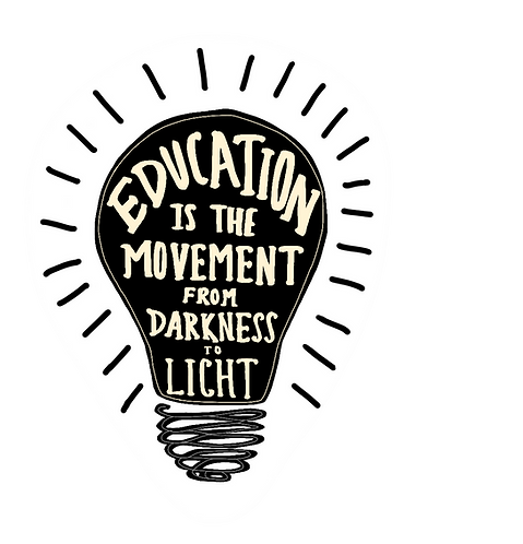 Education is the Movement (Light Bulb)