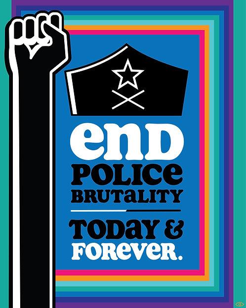 """BLM """"End Police Brutality"""" (Blue)"""