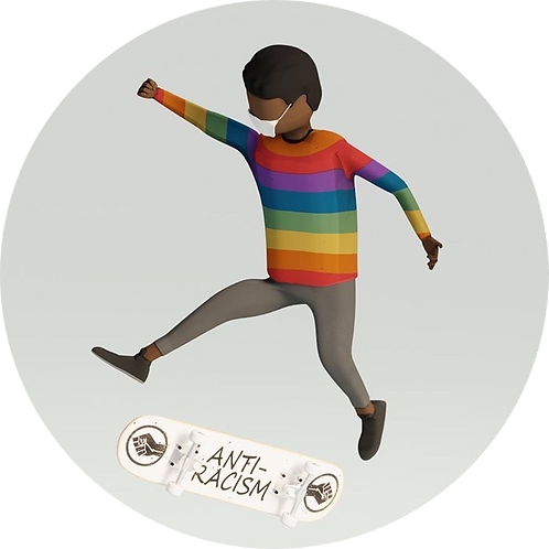 Rep the Rainbow (Skater)