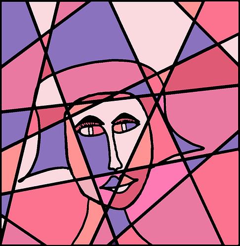 Cubic Feminine (Pink/Purple)
