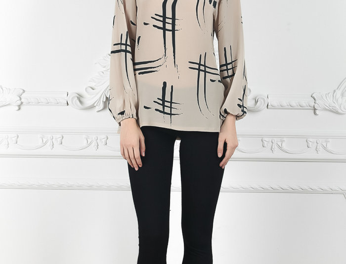 Windsor Blouse/ Silk Print