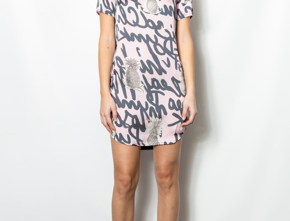Tropical Grafitti Shirt Dress