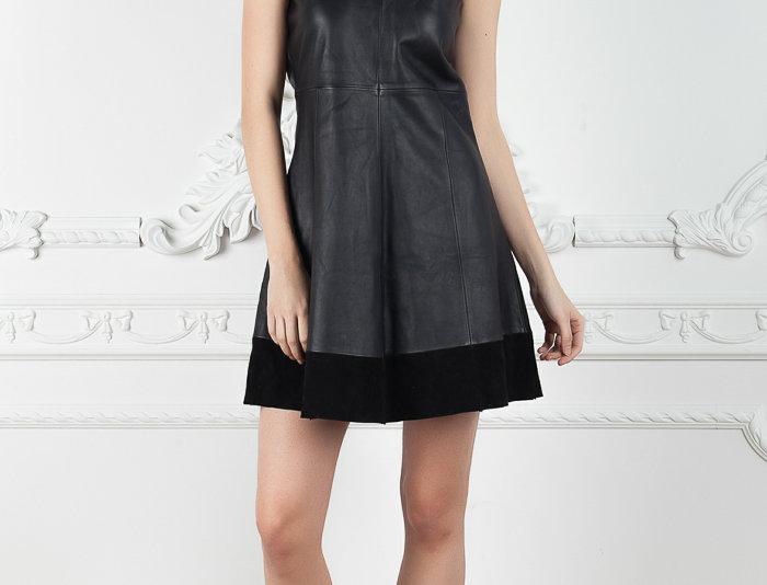 Leather Swing Dress