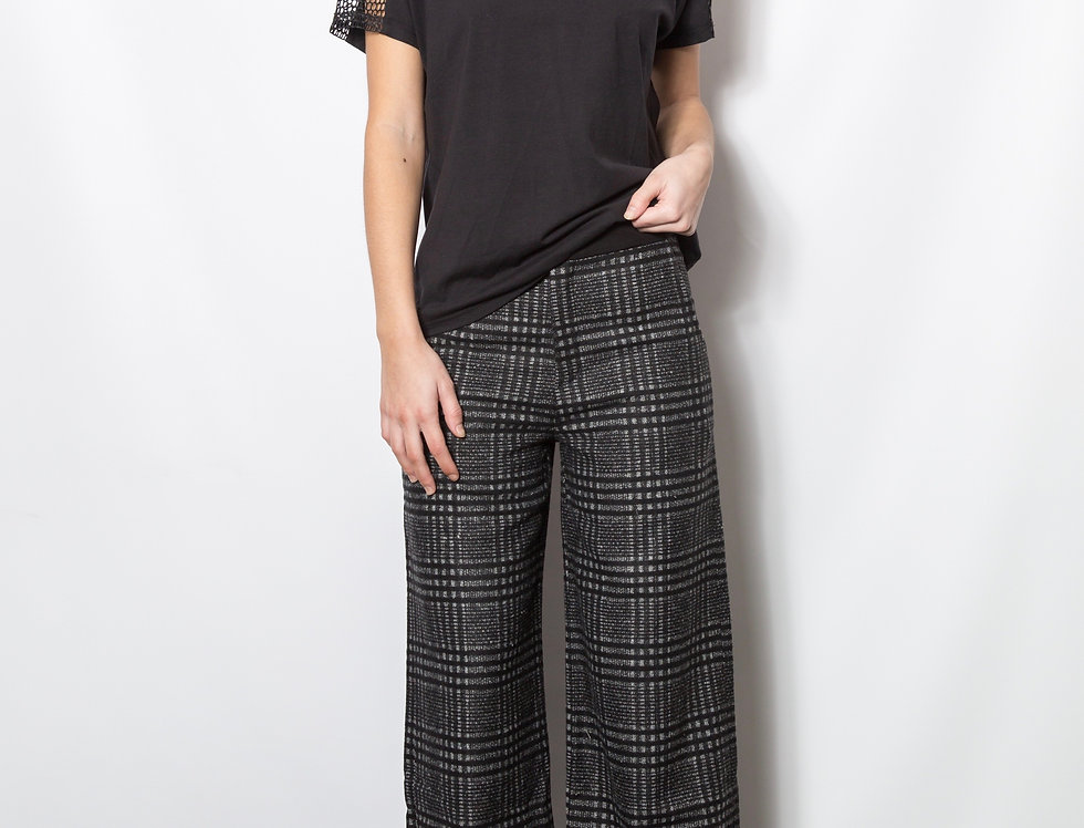 Plaid Wide-leg Pant