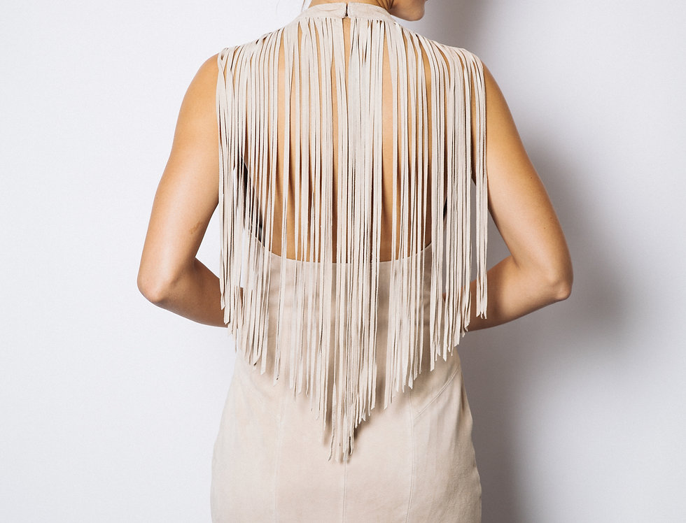 Corina Fringe Back Dress