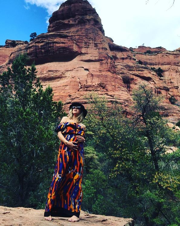 Picasso Print Maxi Dress