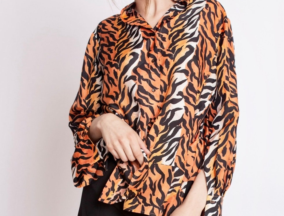 Silk Tiger Blouse
