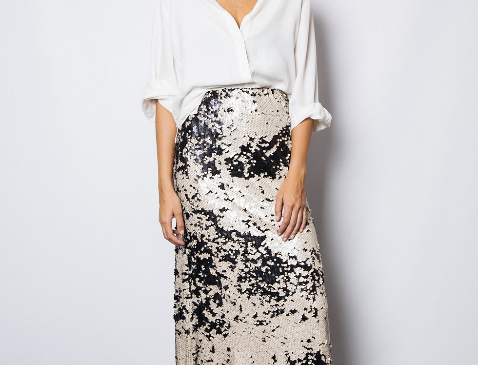 Cafrey Matte Sequin Skirt