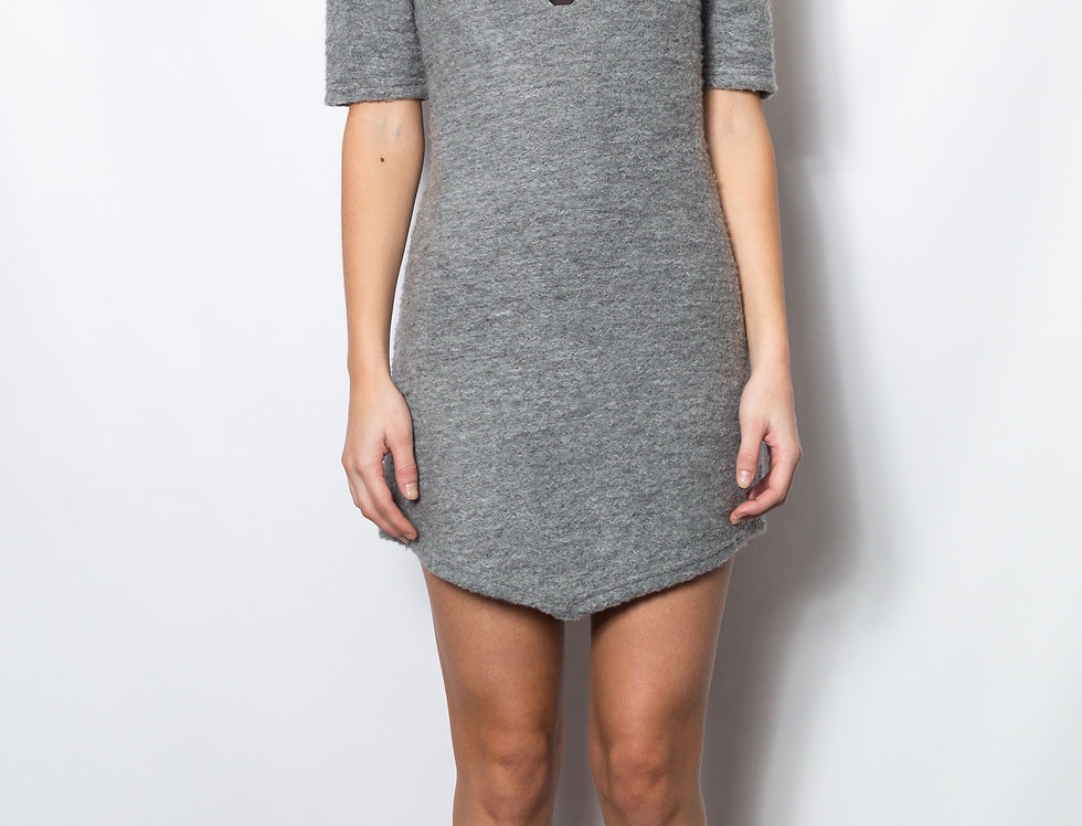 Boucle and Mesh Dress